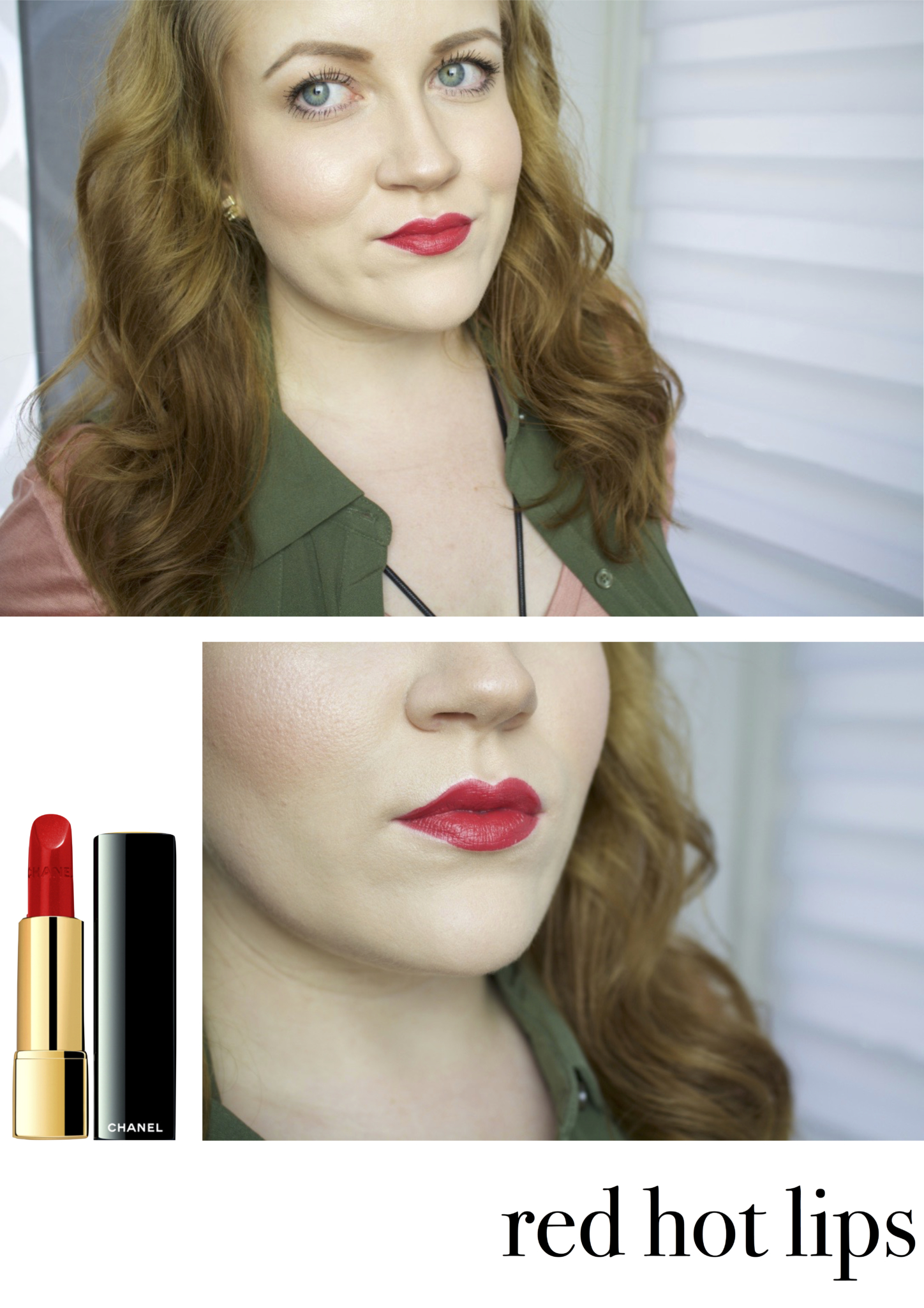 "Frühlings make-up Look Nummer 2 für Rothaarige - Frühlings-Lippenstifte für Rothaarige: Drogerie vs. High End - Blogreihe ""typgerecht"" - Beauty Blog Leipzig"