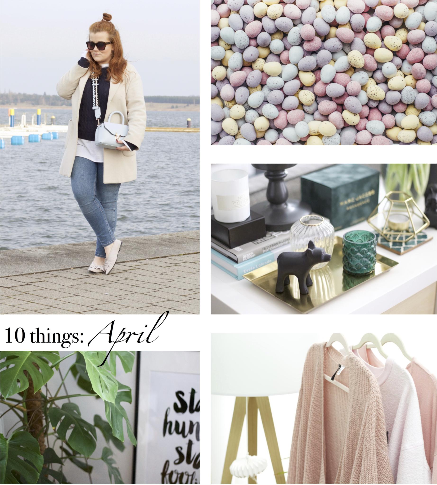 Collage mit Inspirationsbildern zum Beitrag: 10 Dinge, die man im April tun kann - Lifestyle Blog Leipzig