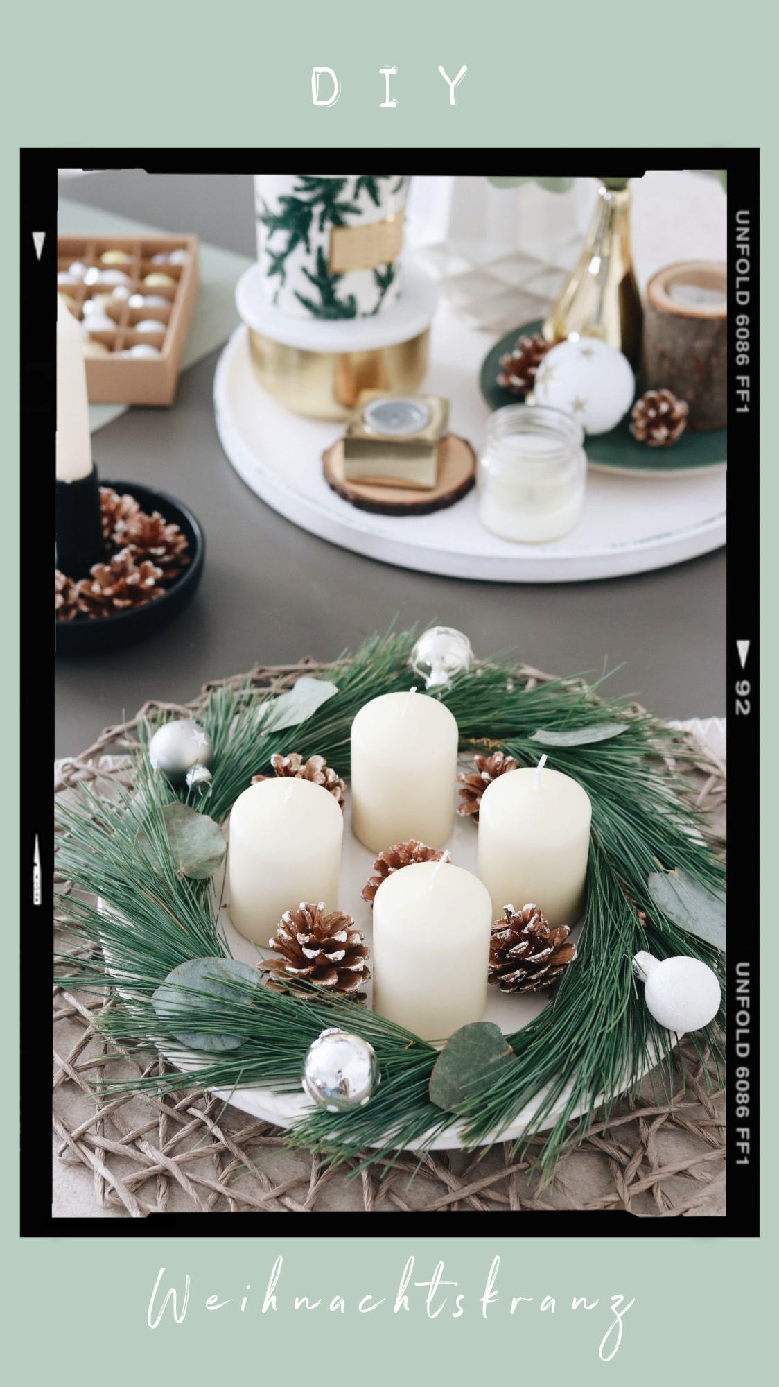 DIY Weihnachtskranz mit Eukalyptus und Kiefer - Scandi Style
