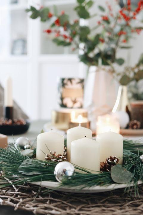 DIY moderner Adventskranz mit Eukalyptus und Kiefernzweig - Scandi Style