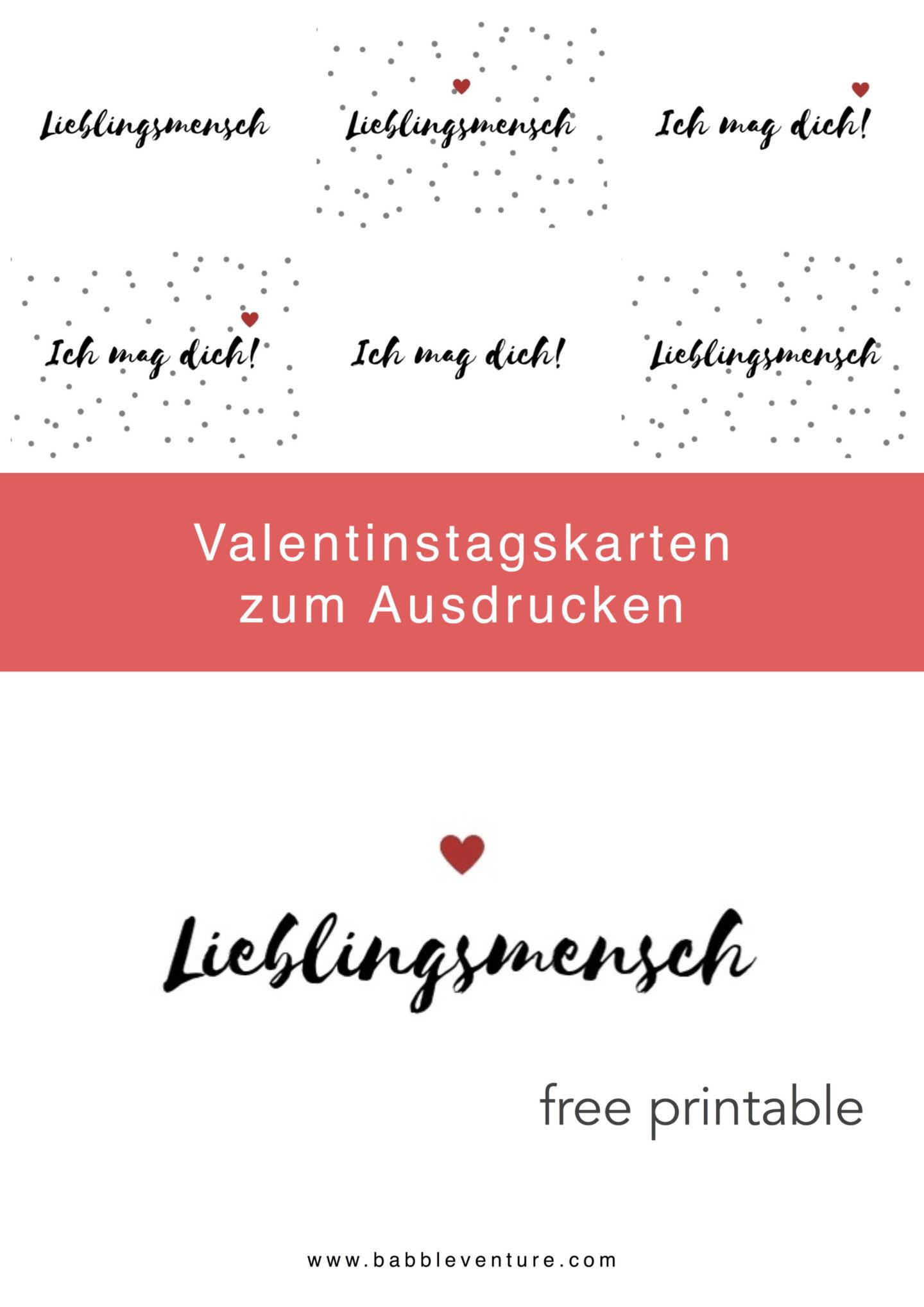 """Hübsche Liebesgruß-Karte zum Gratis-Download """"Lieblingsmensch"""" und """"Ich mag dich!"""" - minimaoistisches Design"""