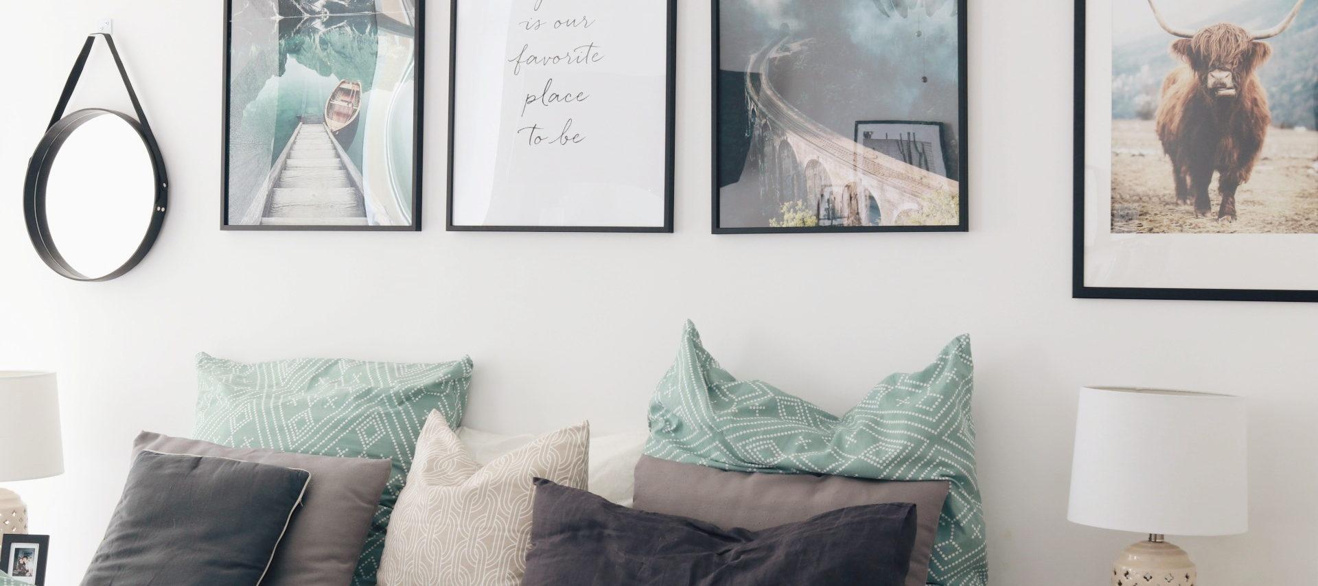 Wandbilder für das Schlafzimmer: Inspiration & Tipps für mehr Gemütlichkeit