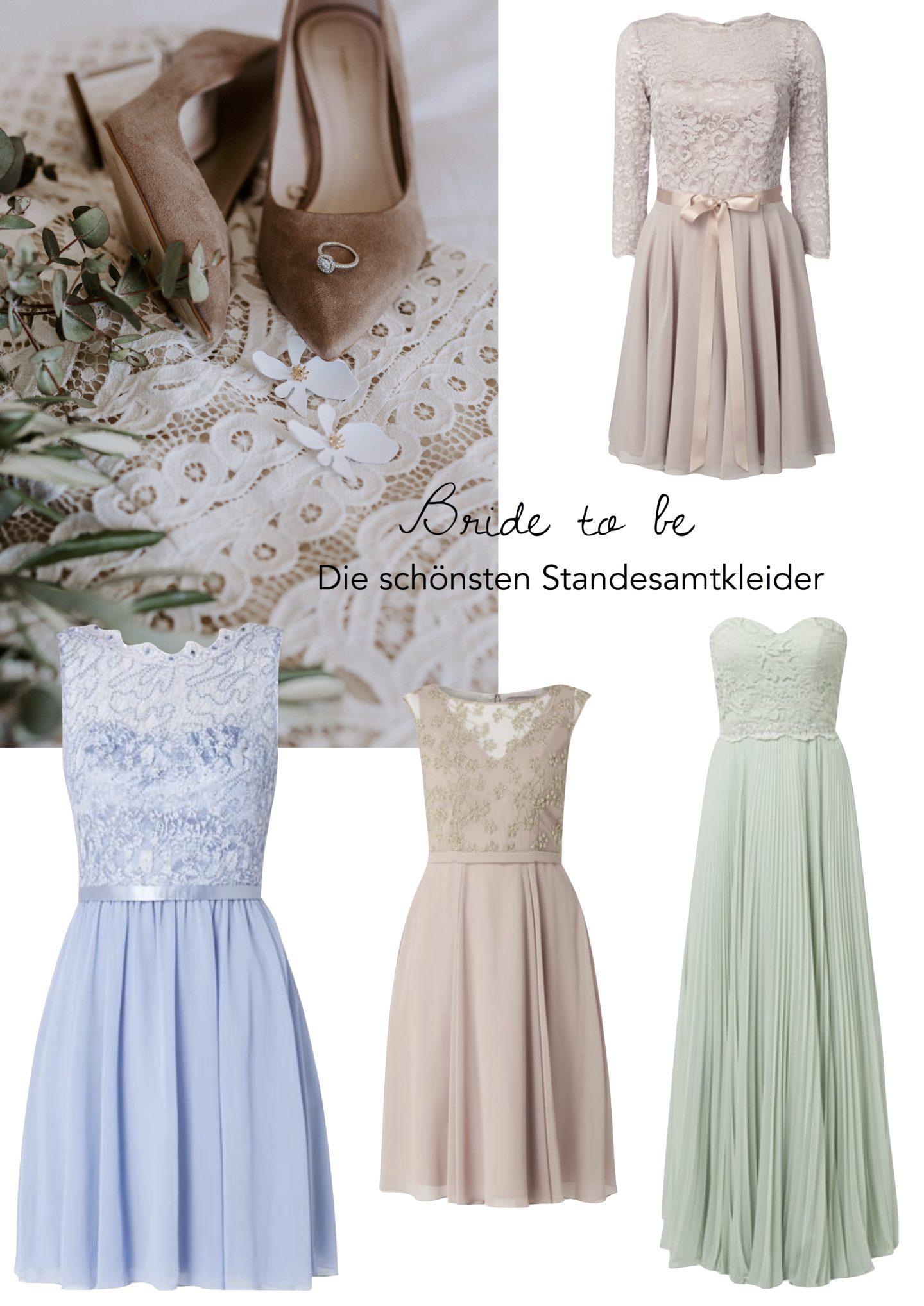 Standesamtkleider: Brautkleider in Pastell-Tönen