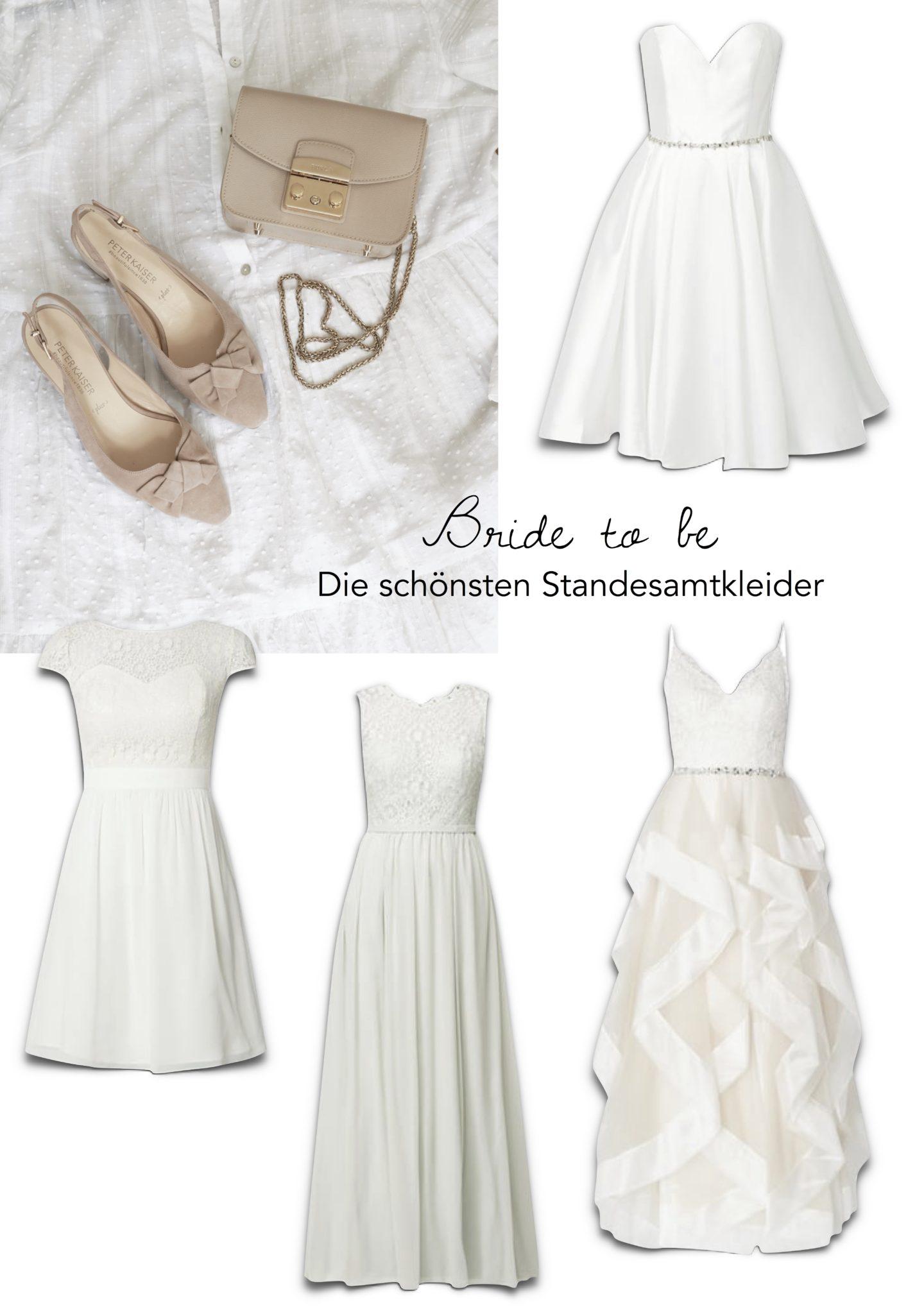 Weiße Standesamtkleider
