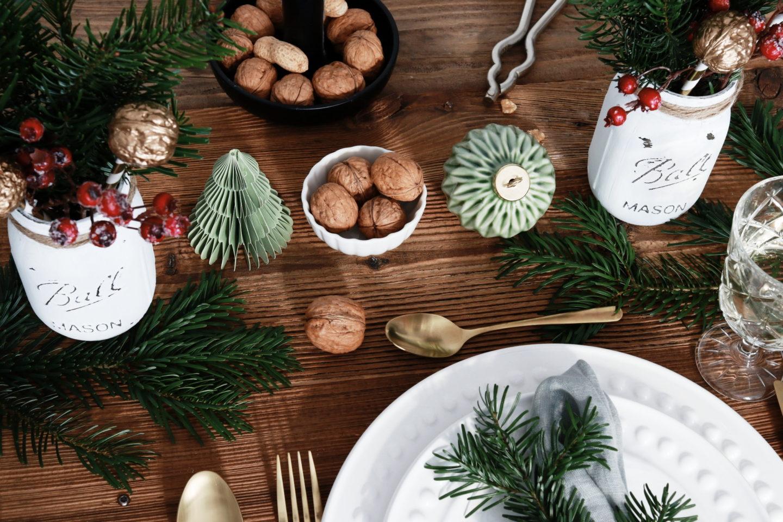 Tischdeko Weihnachten: festliche Tischdekoration für Weihnachten