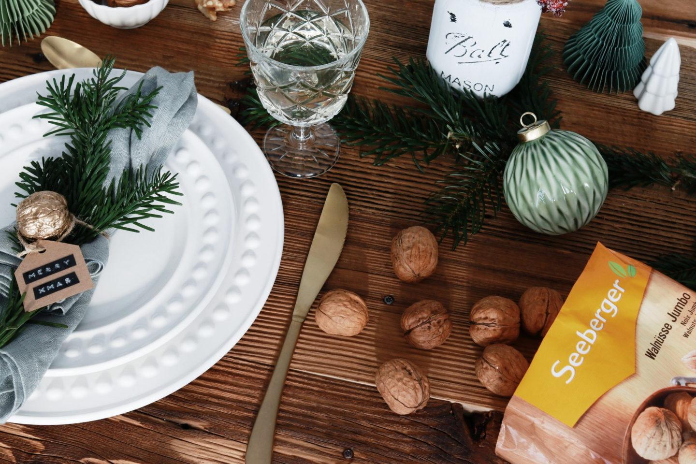 Festliche Tischdekoration für Weinhachten: TIschdeko Weihnachten