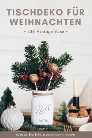 Tischdeko Weihnachten: Festliche Tischdeko für Weihnachten mit DIY-Ideen