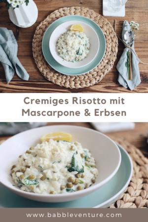 Rezeptidee für Cremiges Risotto mit Mascarpone & Erbsen