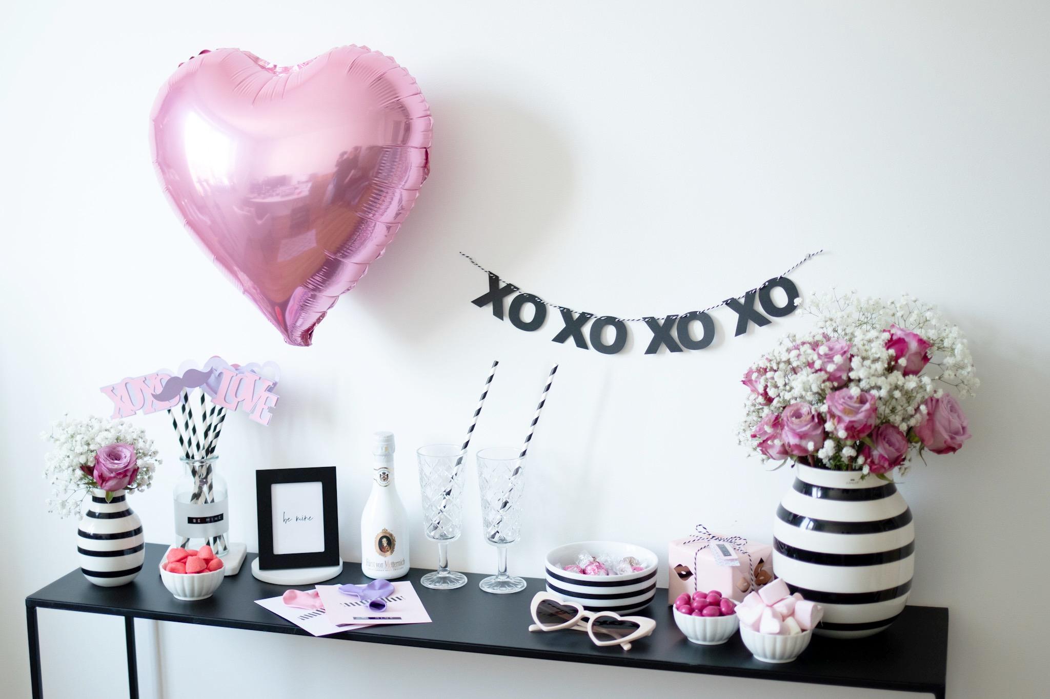Ideen für den Valentinstag Zuhause